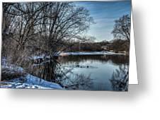 Winter Creek 2 Greeting Card by Dan Crosby