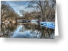 Winter Creek Greeting Card by Dan Crosby