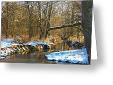 Winter Creek Greeting Card by Joyce Kimble Smith