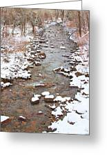 Winter Creek Scenic View Greeting Card