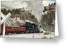 Winter Crossbuck Crossing Greeting Card