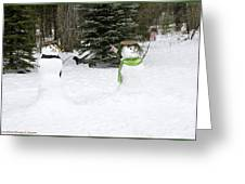 Winter Dance Of The Snow People Greeting Card