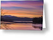 Winter Daybreak At Ocoee Lake Greeting Card by Paul Herrmann