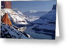 612702-winter Desert River, Ut Greeting Card