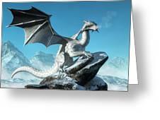 Winter Dragon Greeting Card