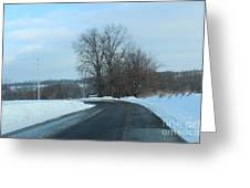 Winter Drive In The Country Greeting Card