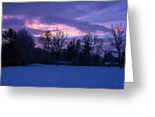 Winter Evening In Grants Pass Greeting Card