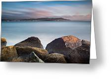 Winter Evening On Humboldt Bay Greeting Card