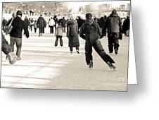 Winter Exercise Greeting Card