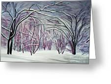 Winter Fairies Greeting Card