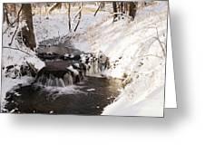 Winter Falls On Big Stone Lake  Greeting Card