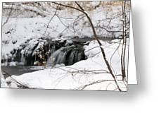 Winter Falls On Big Stone Lake Mn Greeting Card