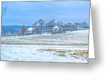 Winter Farm Greeting Card