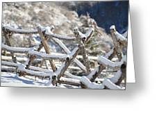 Winter Fence Line  Greeting Card
