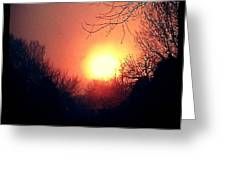 Winter Fire Greeting Card
