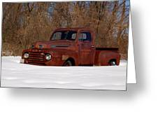 Winter Ford Truck 3 Greeting Card