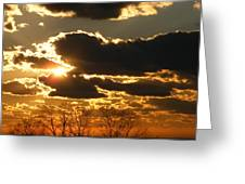 Winter Front Sunset Greeting Card