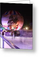 Winter Gardens Ice Rink And Balloon Bournemouth Greeting Card