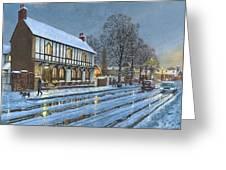 Winter Glow Parish Room Tickhill Yorkshire Greeting Card