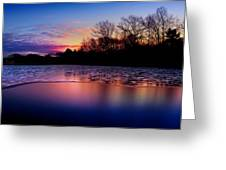 Winter Glow Greeting Card