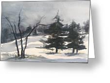 Winter Grey Greeting Card
