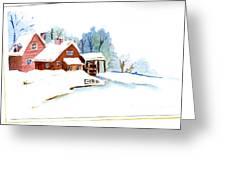 Winter Habitat Greeting Card