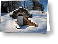 Winter Hobbit Hole Greeting Card