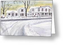 Winter Holidays In Dixboro Mi Greeting Card