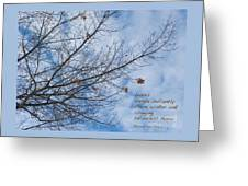 Winter Hope Greeting Card