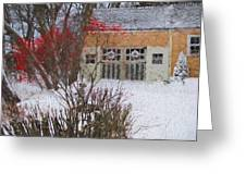 Winter House Greeting Card
