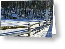 Winter Hut Greeting Card