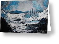 Winter In Ancient Ruins Greeting Card