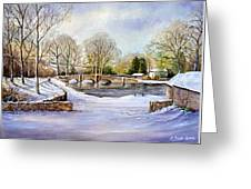 Winter In Ashford Greeting Card by Andrew Read