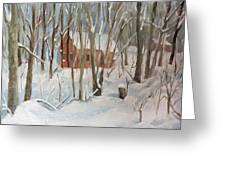 Winter In Campton New Hampshire Greeting Card