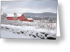 Winter In Connecticut Greeting Card