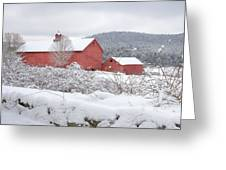 Winter In Connecticut Square Greeting Card