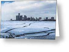 Winter In Detroit  Greeting Card