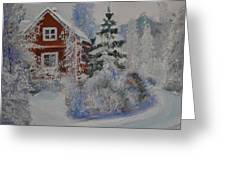 Winter In Finland Greeting Card