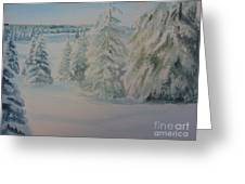 Winter In Gyllbergen Greeting Card