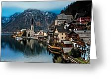 Winter In Hallstatt Greeting Card