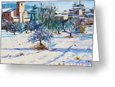 Winter In Lourmarin Greeting Card