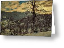 Winter In Mountains Greeting Card
