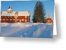 Winter In New England, Mountain View Greeting Card