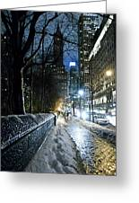 Winter In New York City Greeting Card