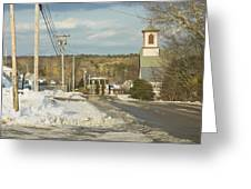 Winter In Round Pond Maine Greeting Card