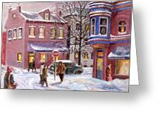Winter In Soulard Greeting Card by Edward Farber