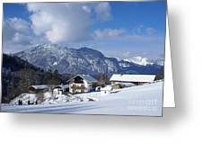 winter in the Bavarian alps 1 Greeting Card