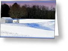 Winter In The Berkshires Greeting Card
