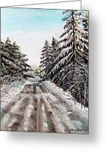 Winter In The Boons Greeting Card by Shana Rowe Jackson