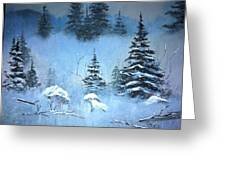 Winter In The Forest Greeting Card